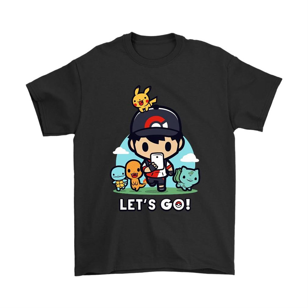 Lets Go Chibi Starter Pokemon Shirts Full Size Up To 5xl