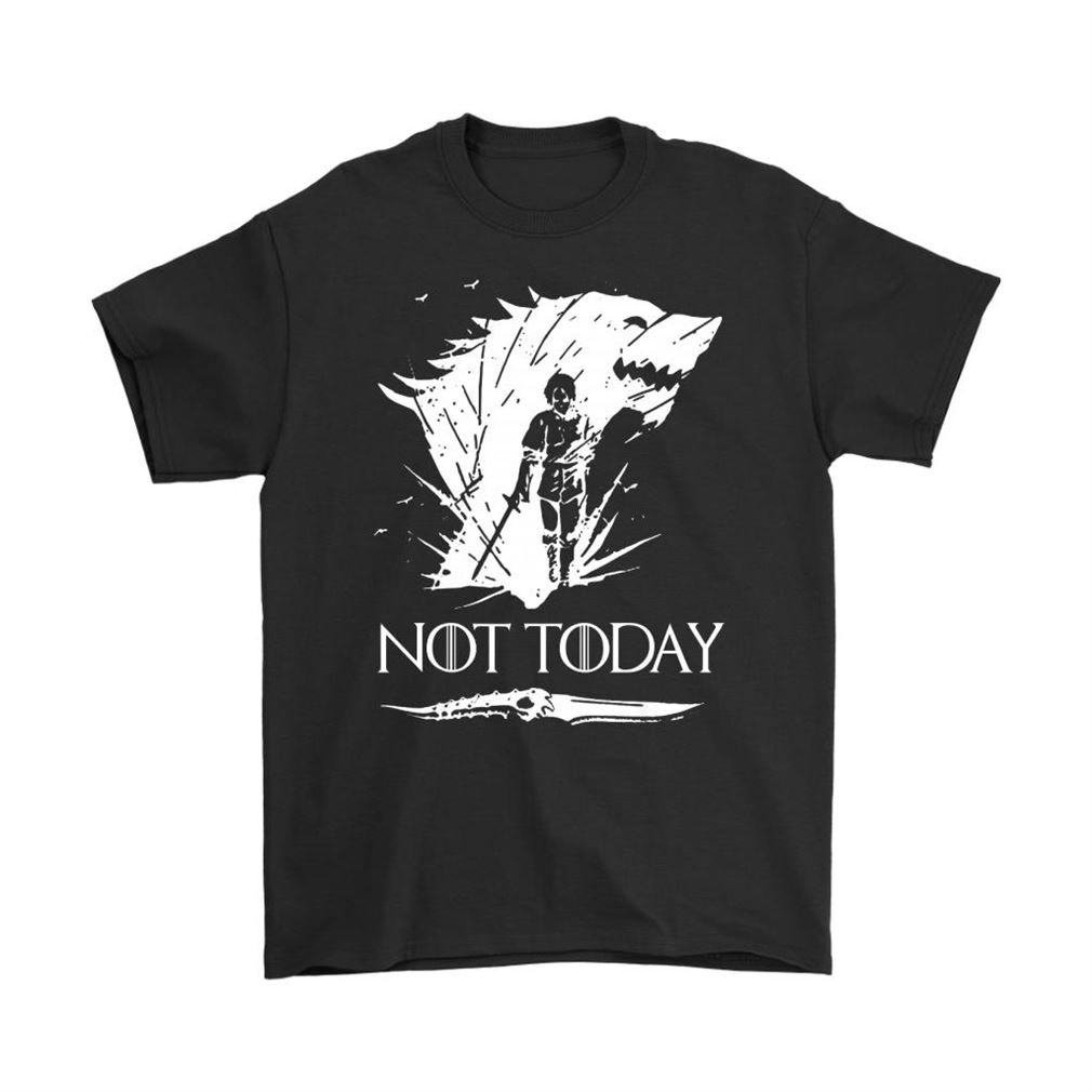 Not Today Death Valyrian Dagger Arya Stark Shirts Plus Size Up To 5xl