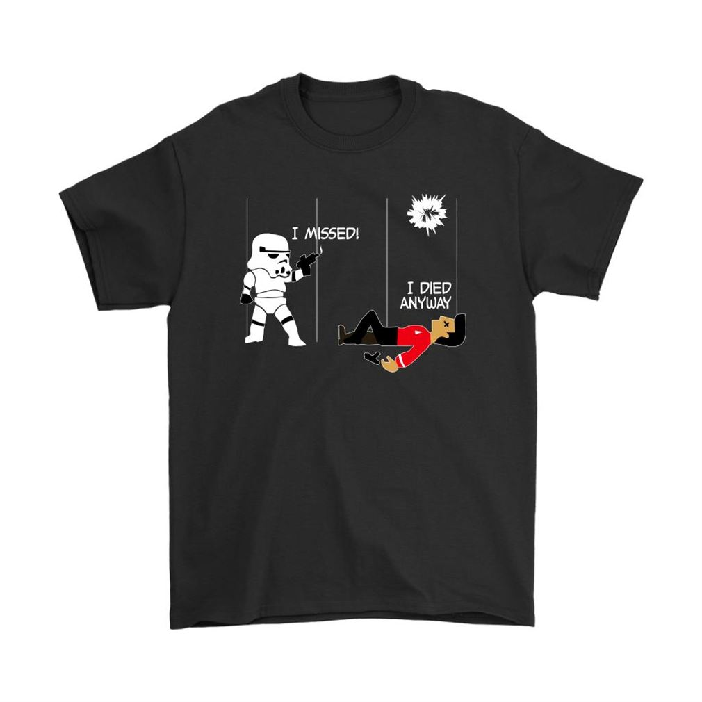 Star Wars Star Trek A Stormtrooper And A Redshirt In A Fight Shirts Full Size Up To 5xl