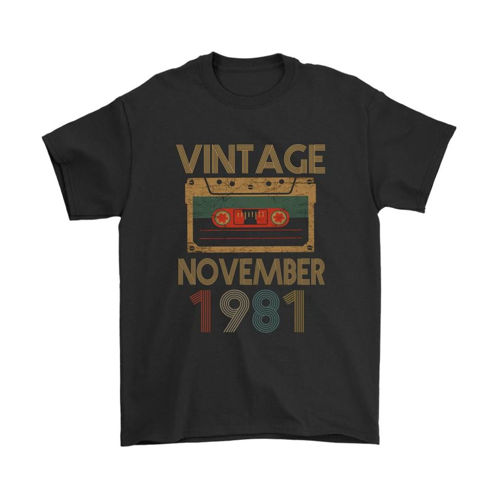 Vintage November 1981 Cassette Tape Birthday Shirts Plus Size Up To 5xl