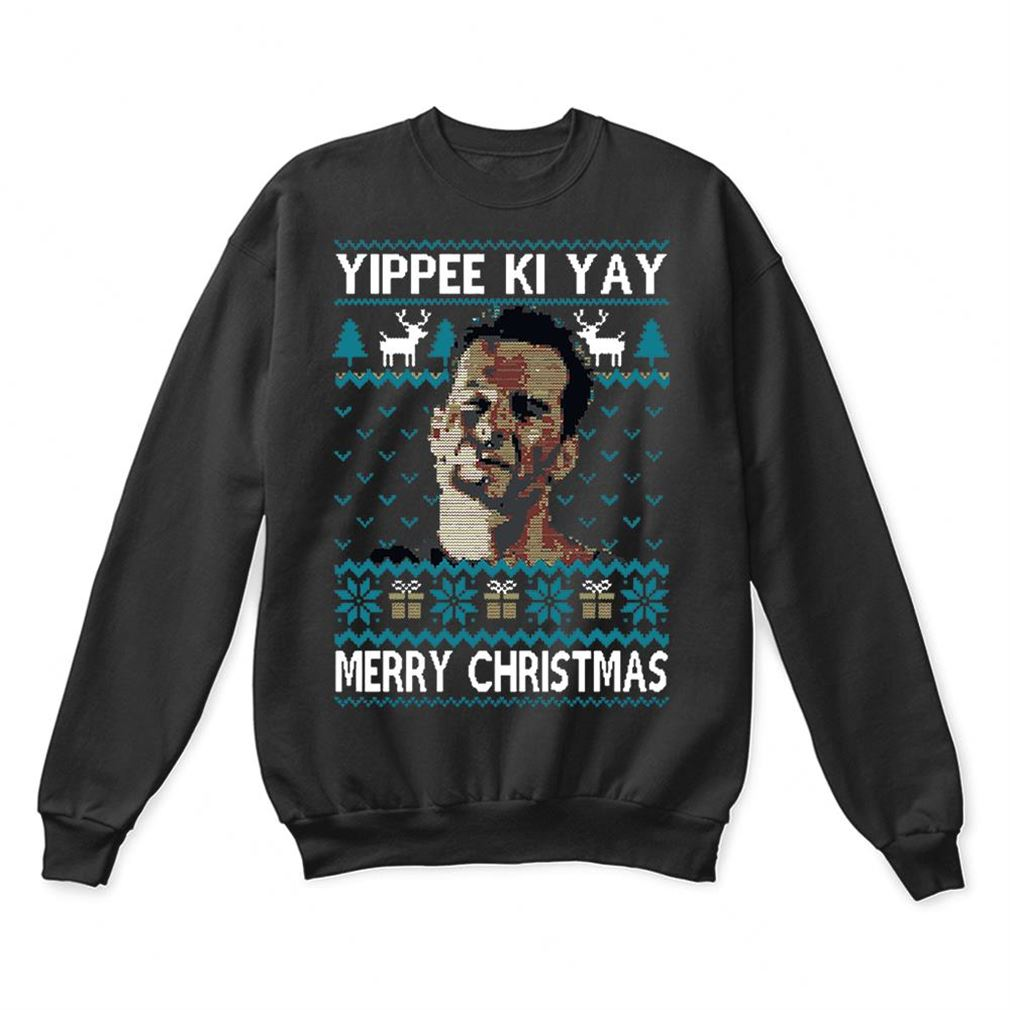Yippee Ki-yay Merry Christmas Die Hard Ugly Sweaters Full Size Up To 5xl
