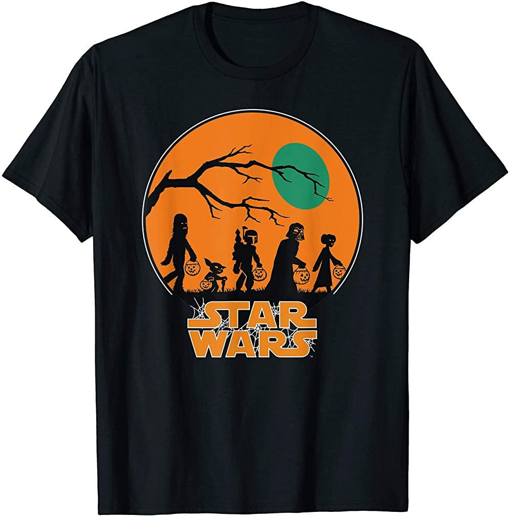Characters Trick Or Treat Halloween T-shirt Size Up To 5xl