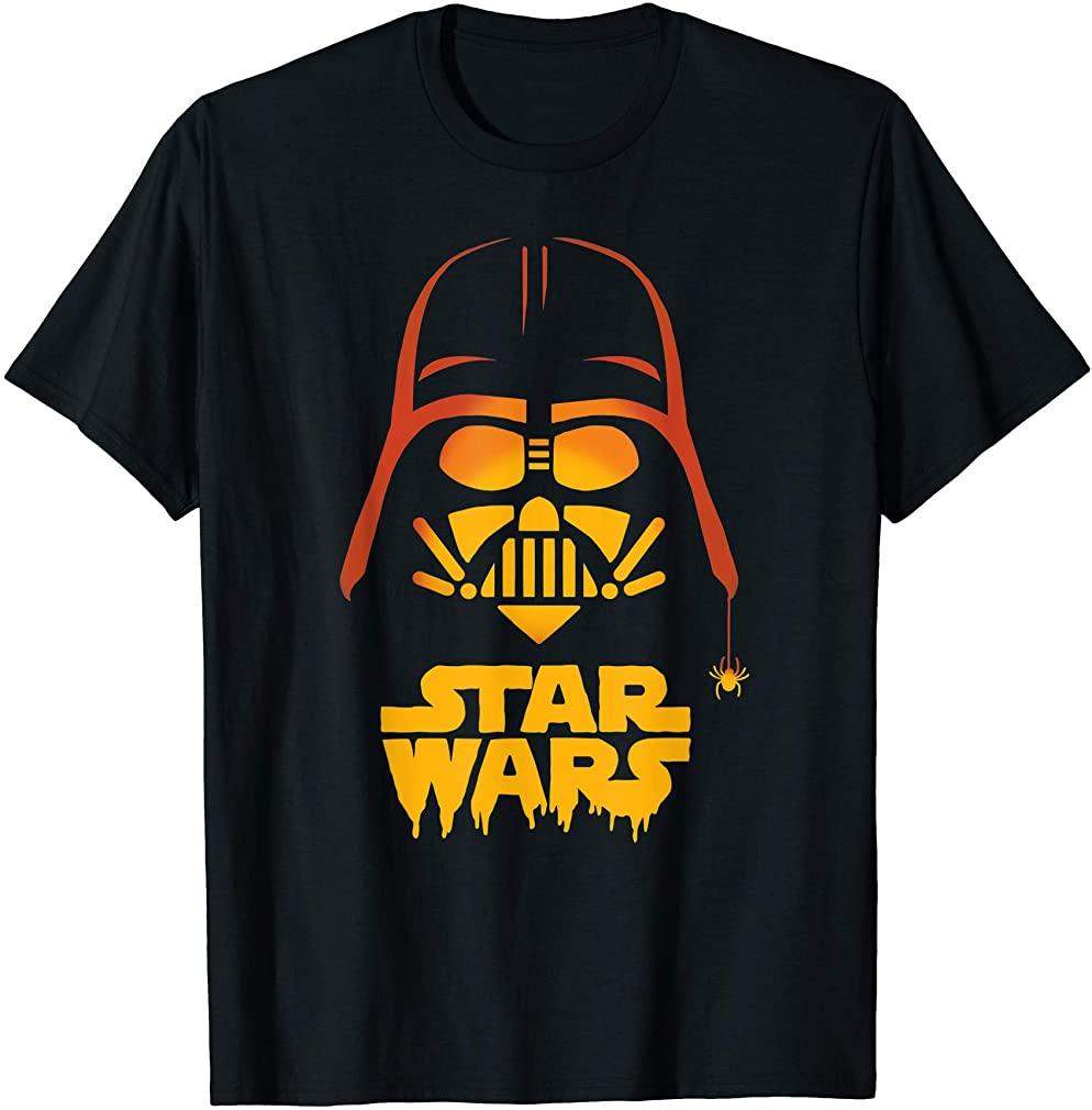 Darth Vader Halloween Jack-o-lantern T-shirt Plus Size Up To 5xl