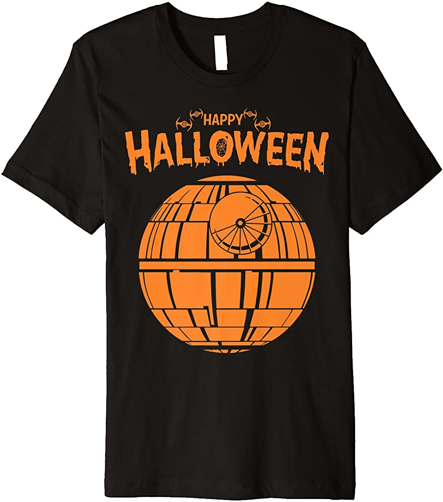 Death Star Happy Halloween Premium T-shirt Plus Size Up To 5xl