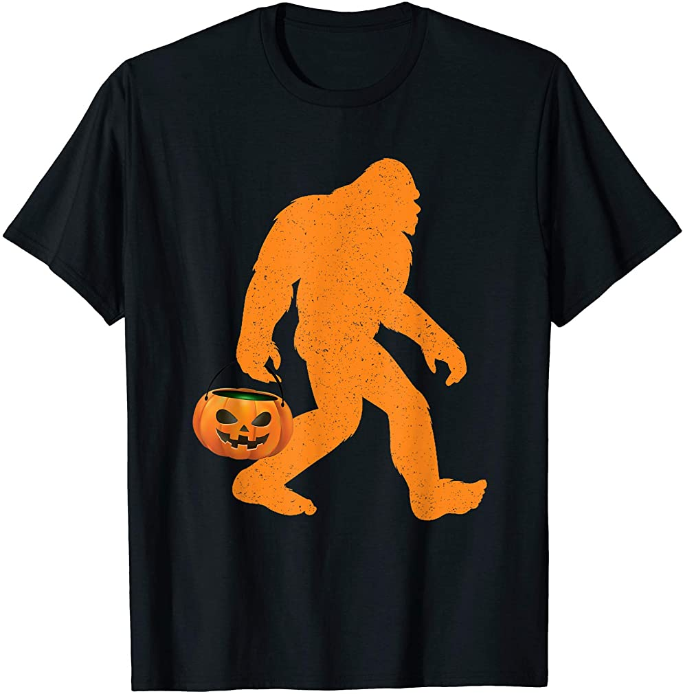 Funny Bigfoot Halloween Trick Or Treat Costumes T-shirt Size Up To 5xl