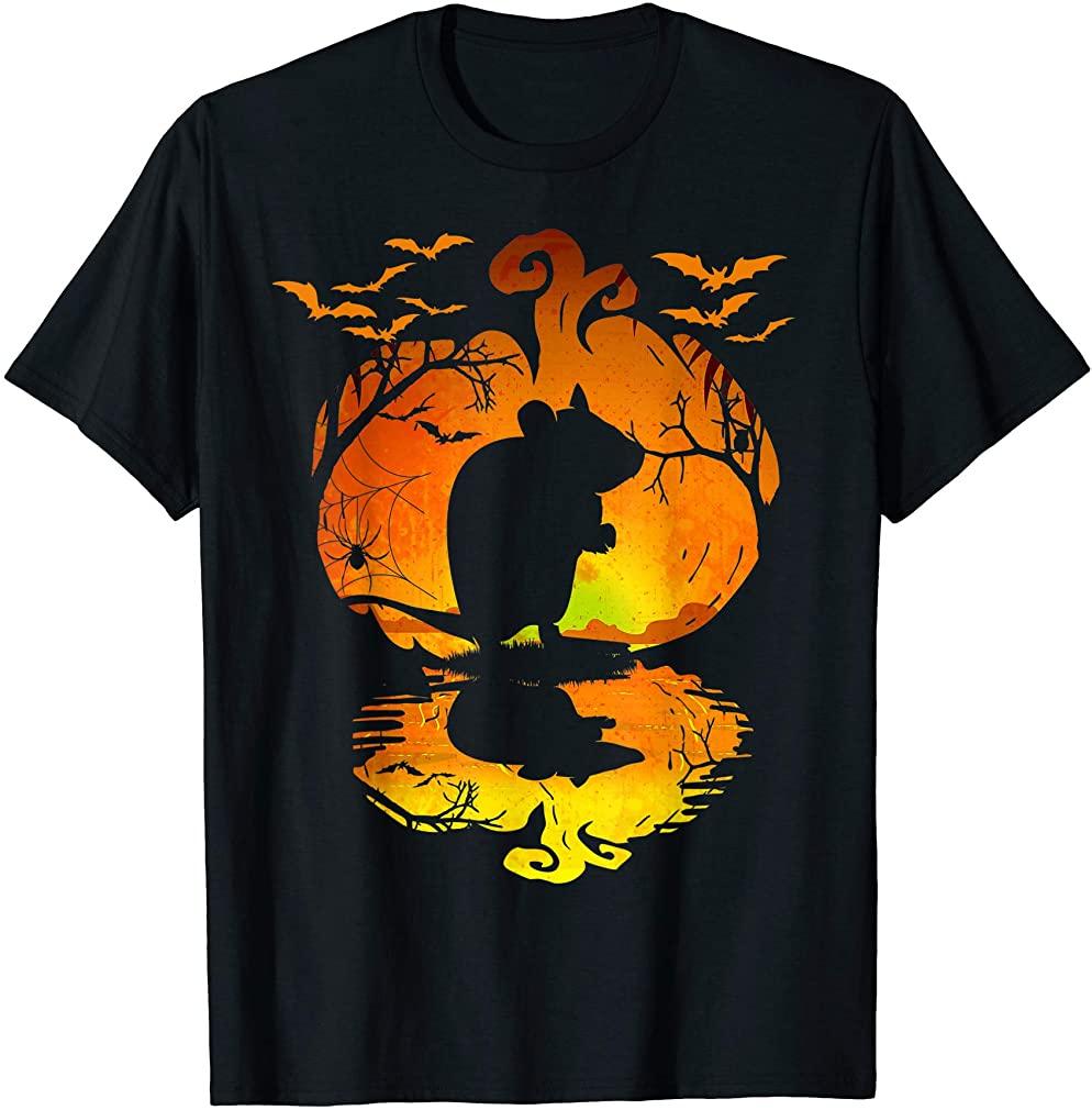 Gerbil Silhouette Pumpkin Halloween Costume Men Women Kids T-shirt Size Up To 5xl