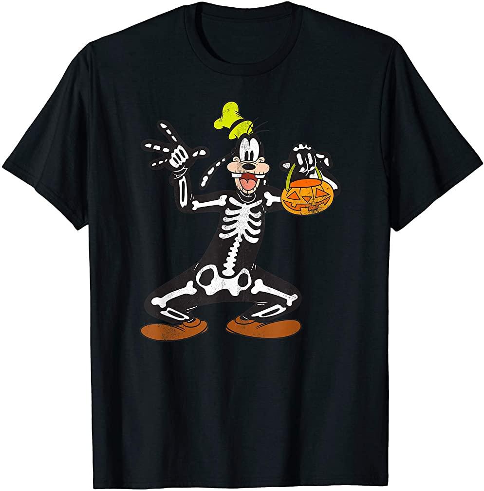 Goofy Skeleton Halloween T-shirt Size Up To 5xl
