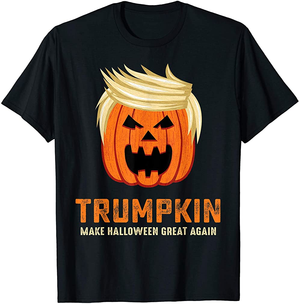 Halloween Trumpkin Funny T-shirt Size Up To 5xl