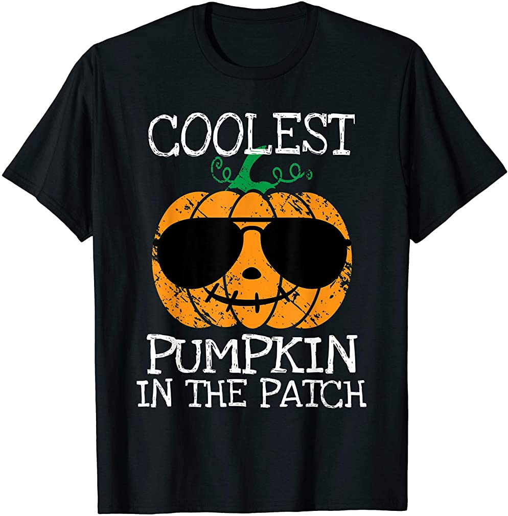 Kids Coolest Pumpkin In The Patch Halloween Boys Girls Gift T-shirt Plus Size Up To 5xl