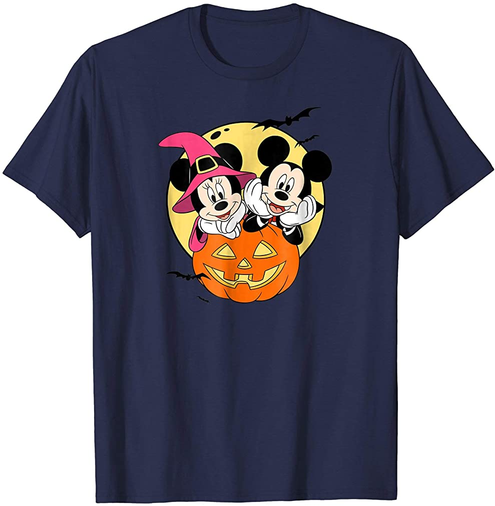Mickey And Minnie Halloween T Shirt Plus Size Up To 5xl