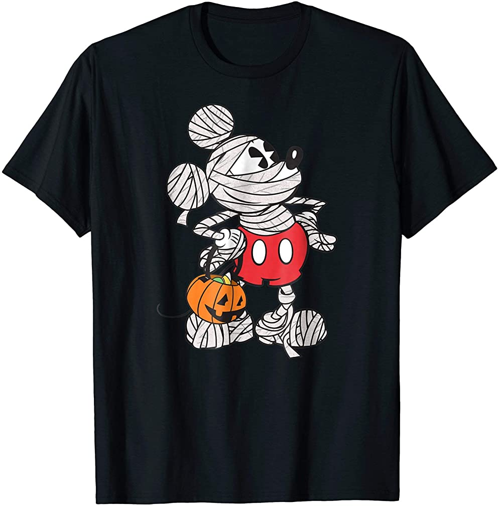 Mickey Mouse Mummy Halloween Tee Plus Size Up To 5xl