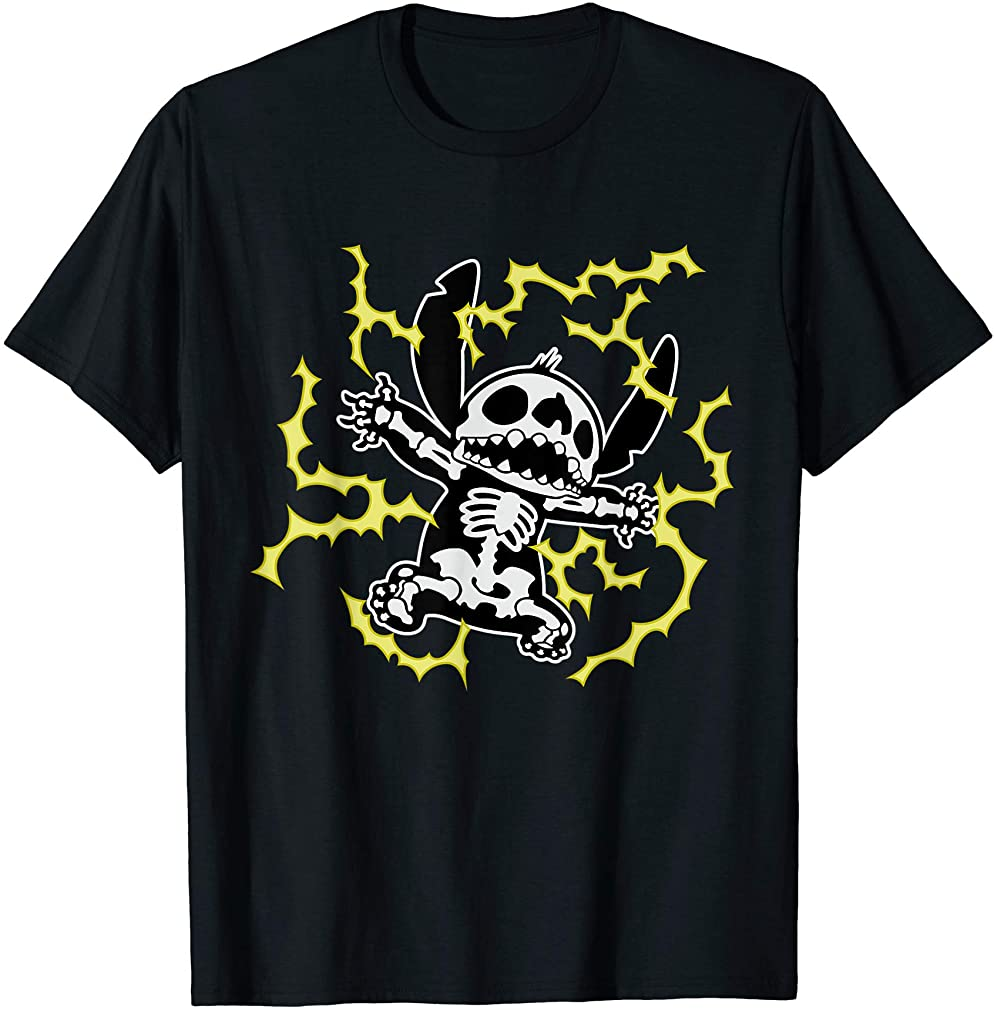 Stitch Skeleton Halloween T-shirt Size Up To 5xl