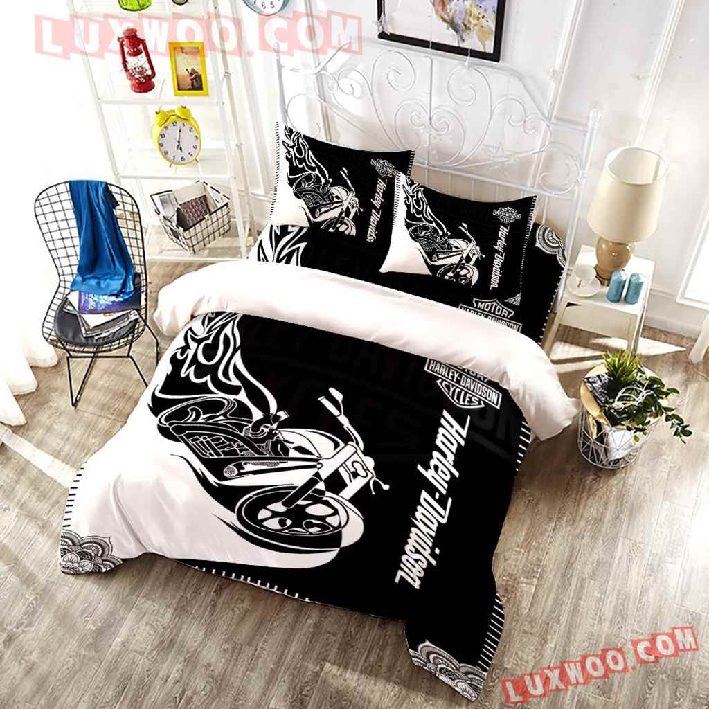 3d Quilt Bedding Set Harley Davidson Motorcycle
