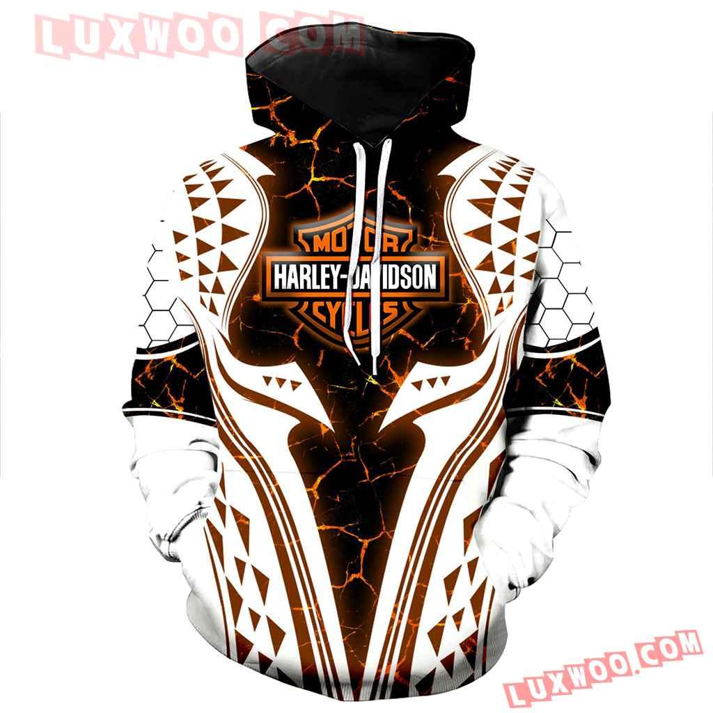 Harley Davidson 3d Hoodies Printed Zip Hoodies V1