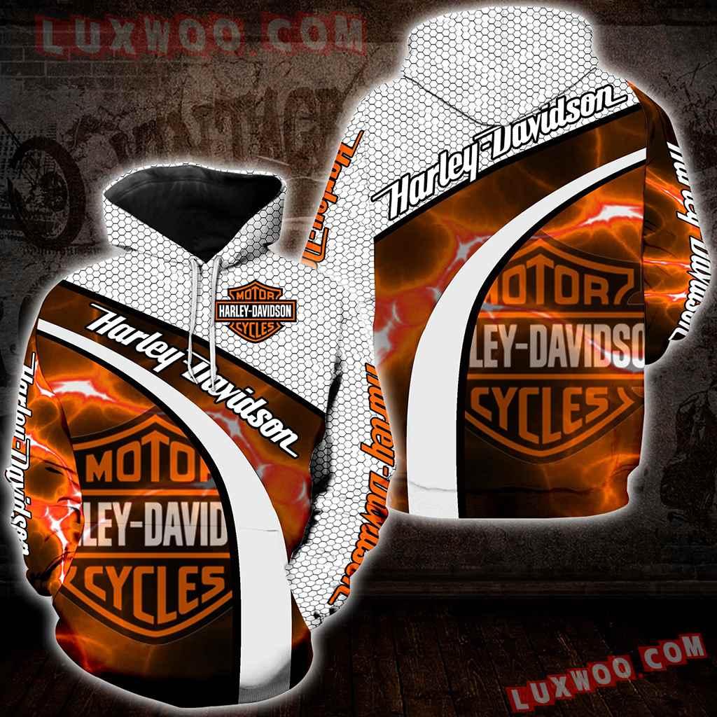 Harley Davidson 3d Hoodies Printed Zip Hoodies V10