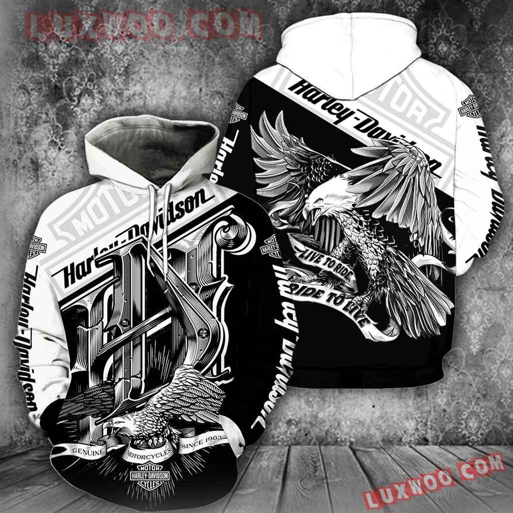 Harley Davidson 3d Hoodies Printed Zip Hoodies V11