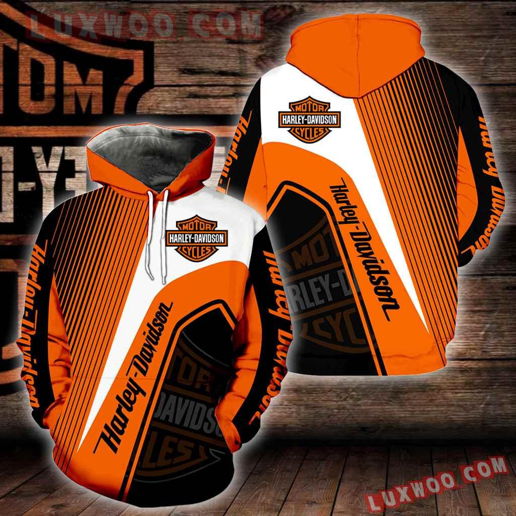 Harley Davidson 3d Hoodies Printed Zip Hoodies V12