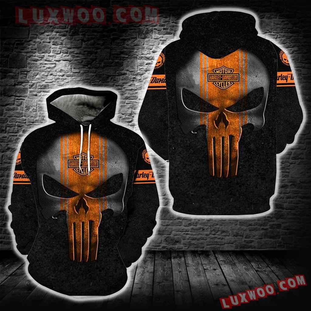 Harley Davidson 3d Hoodies Printed Zip Hoodies V13