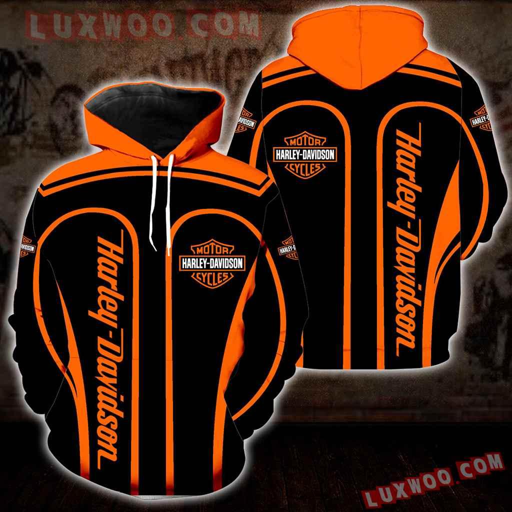 Harley Davidson 3d Hoodies Printed Zip Hoodies V14