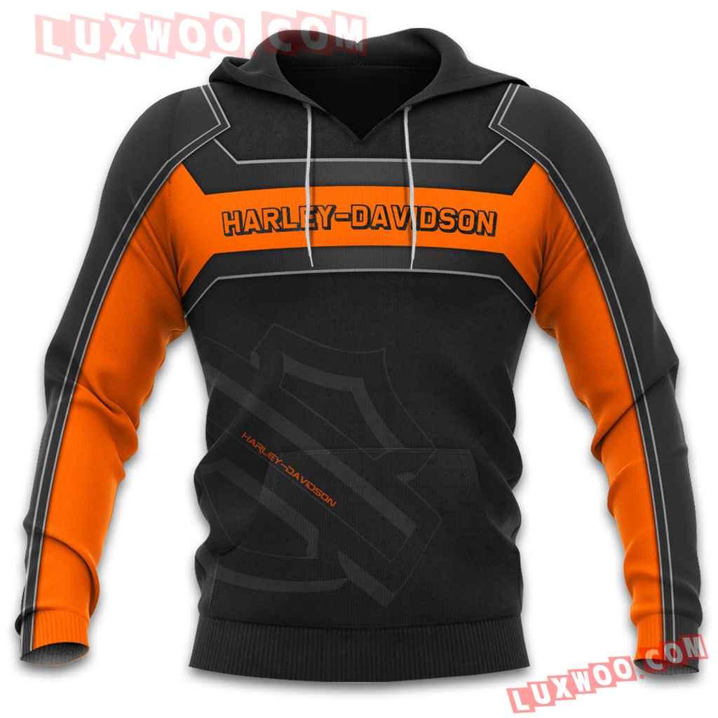 Harley Davidson 3d Hoodies Printed Zip Hoodies V15