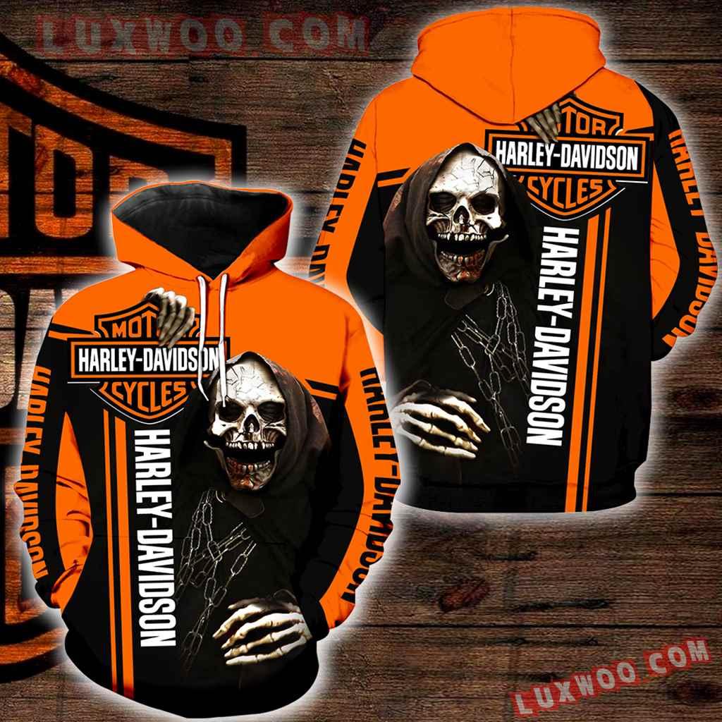Harley Davidson 3d Hoodies Printed Zip Hoodies V16