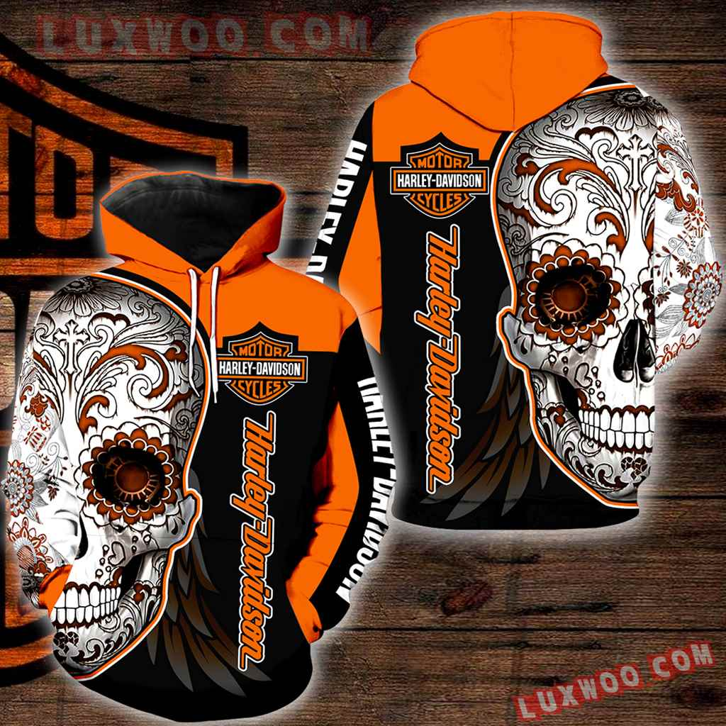 Harley Davidson 3d Hoodies Printed Zip Hoodies V18