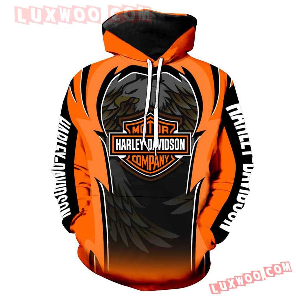Harley Davidson 3d Hoodies Printed Zip Hoodies V3