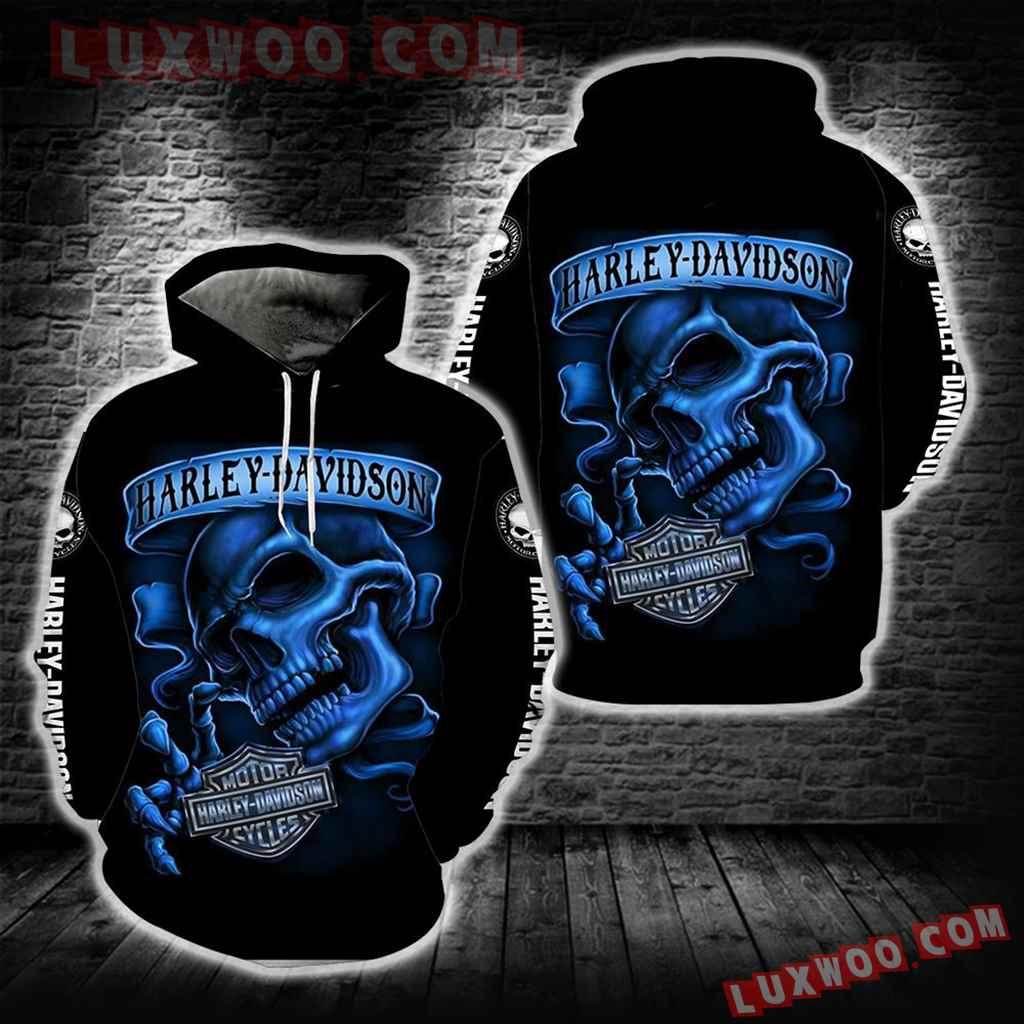 Harley Davidson 3d Hoodies Printed Zip Hoodies V9