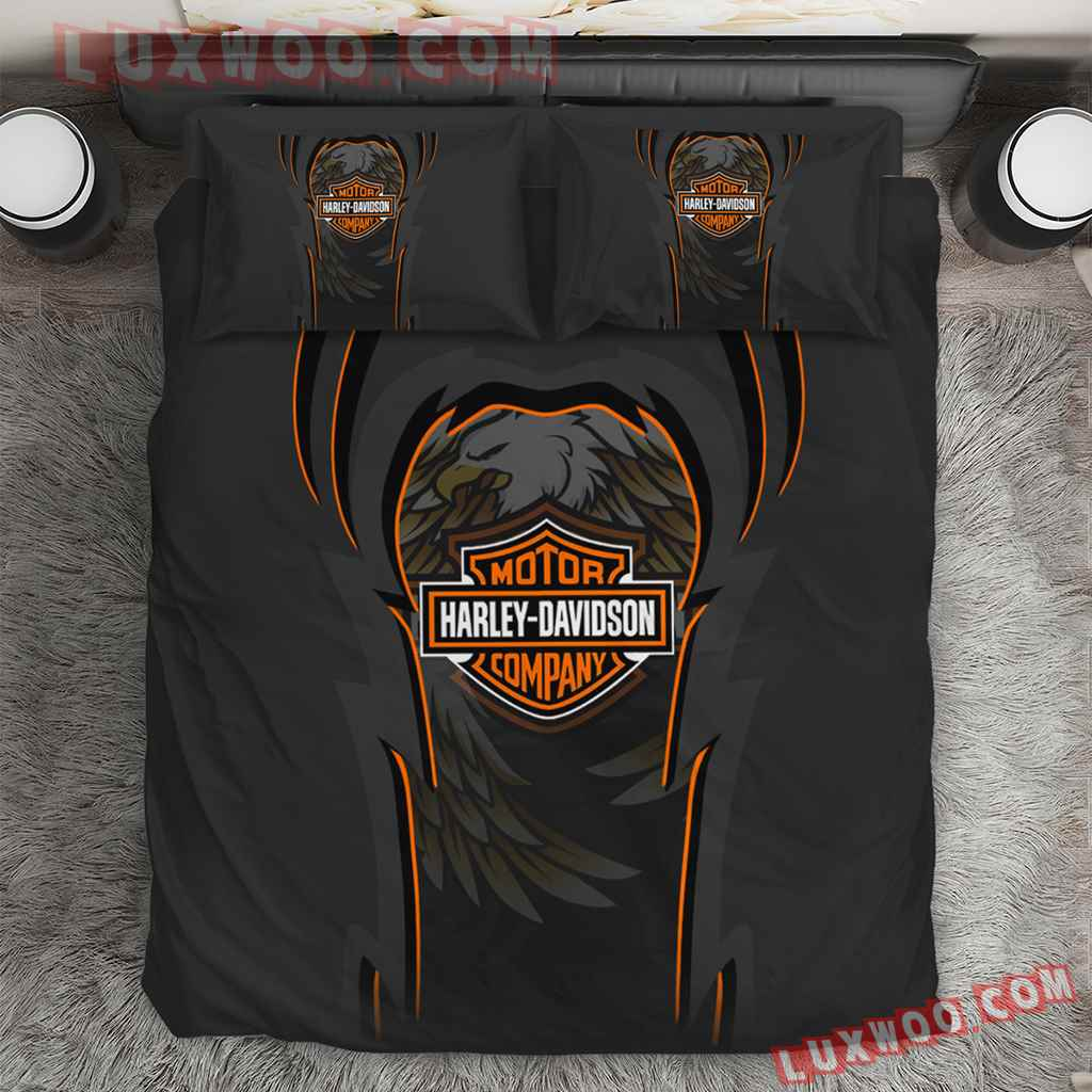 Harley Davidson Eagle 3d Quilt Bedding Set V1