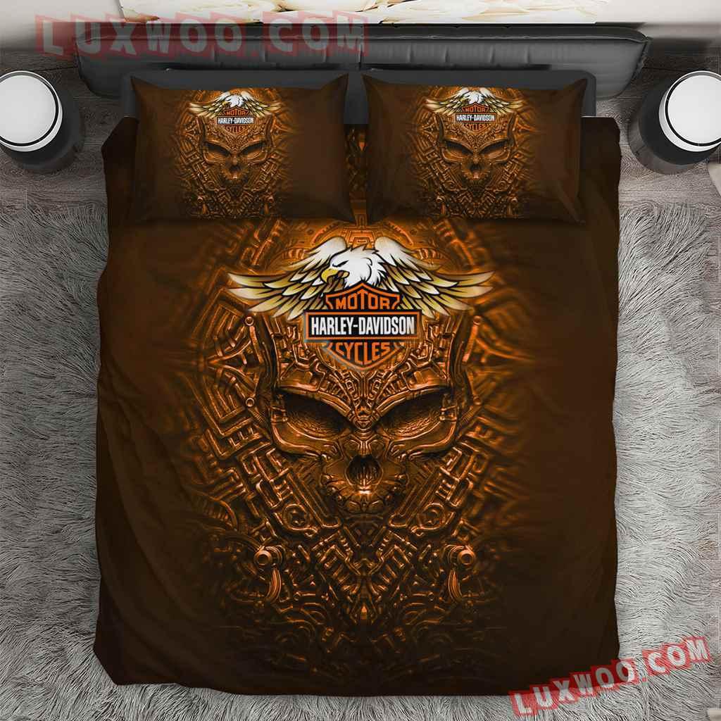 Harley Davidson Eagle 3d Quilt Bedding Set V2