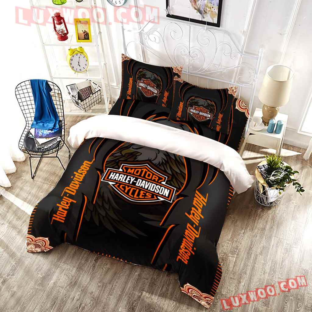 Harley Davidson Eagle 3d Quilt Bedding Set V3