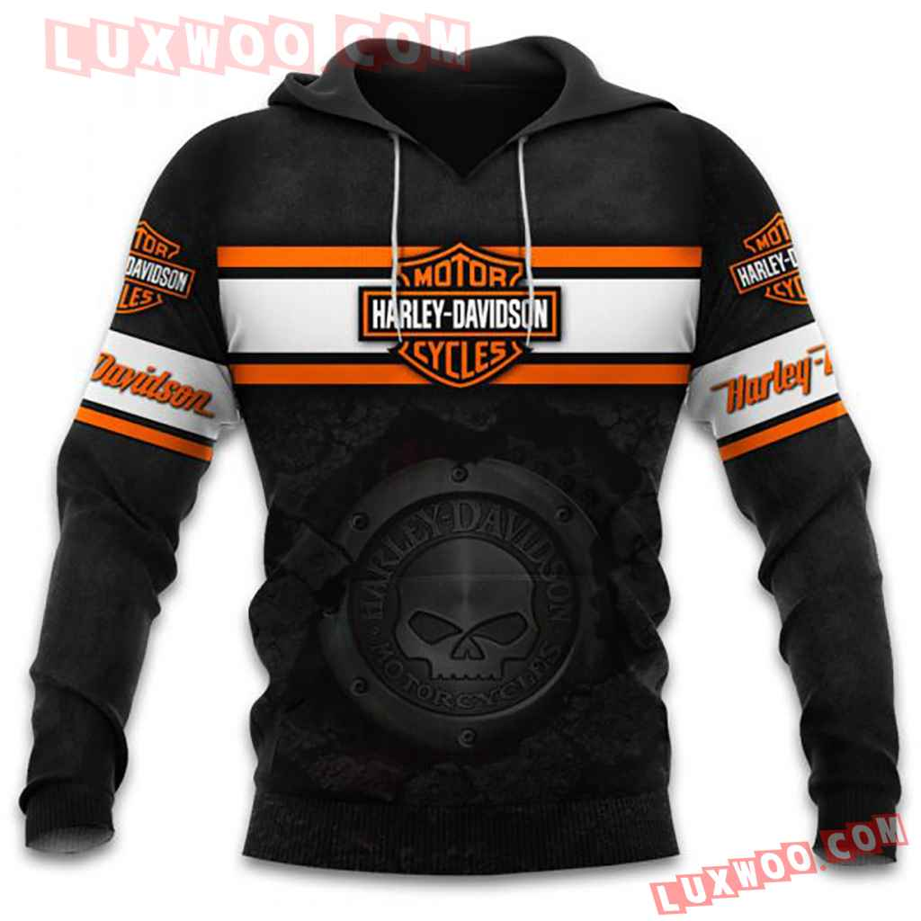 Harley Davidson Motorcycle 3d Hoodies Printed Zip Hoodies V1