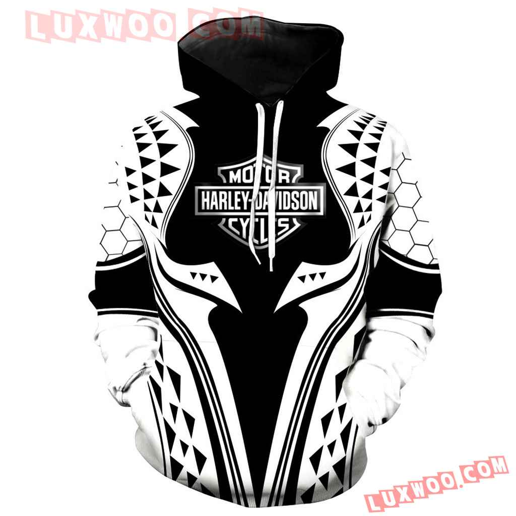 Harley Davidson Motorcycle 3d Hoodies Printed Zip Hoodies V2