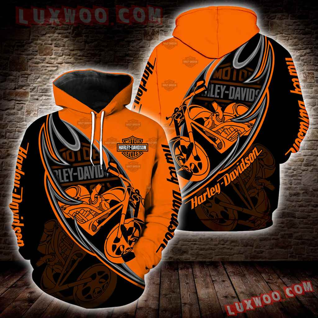 Harley Davidson Motorcycle 3d Hoodies Printed Zip Hoodies V4