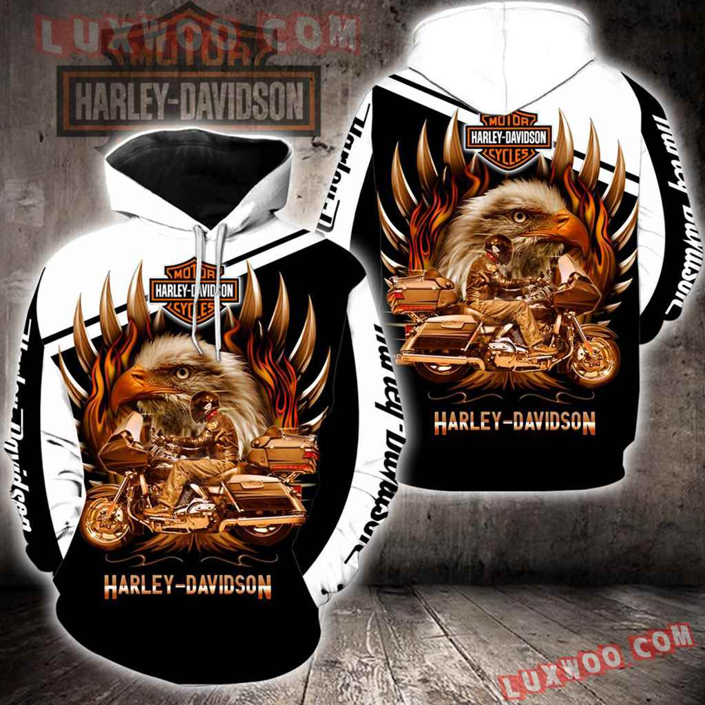 Harley Davidson Motorcycle 3d Hoodies Printed Zip Hoodies V47