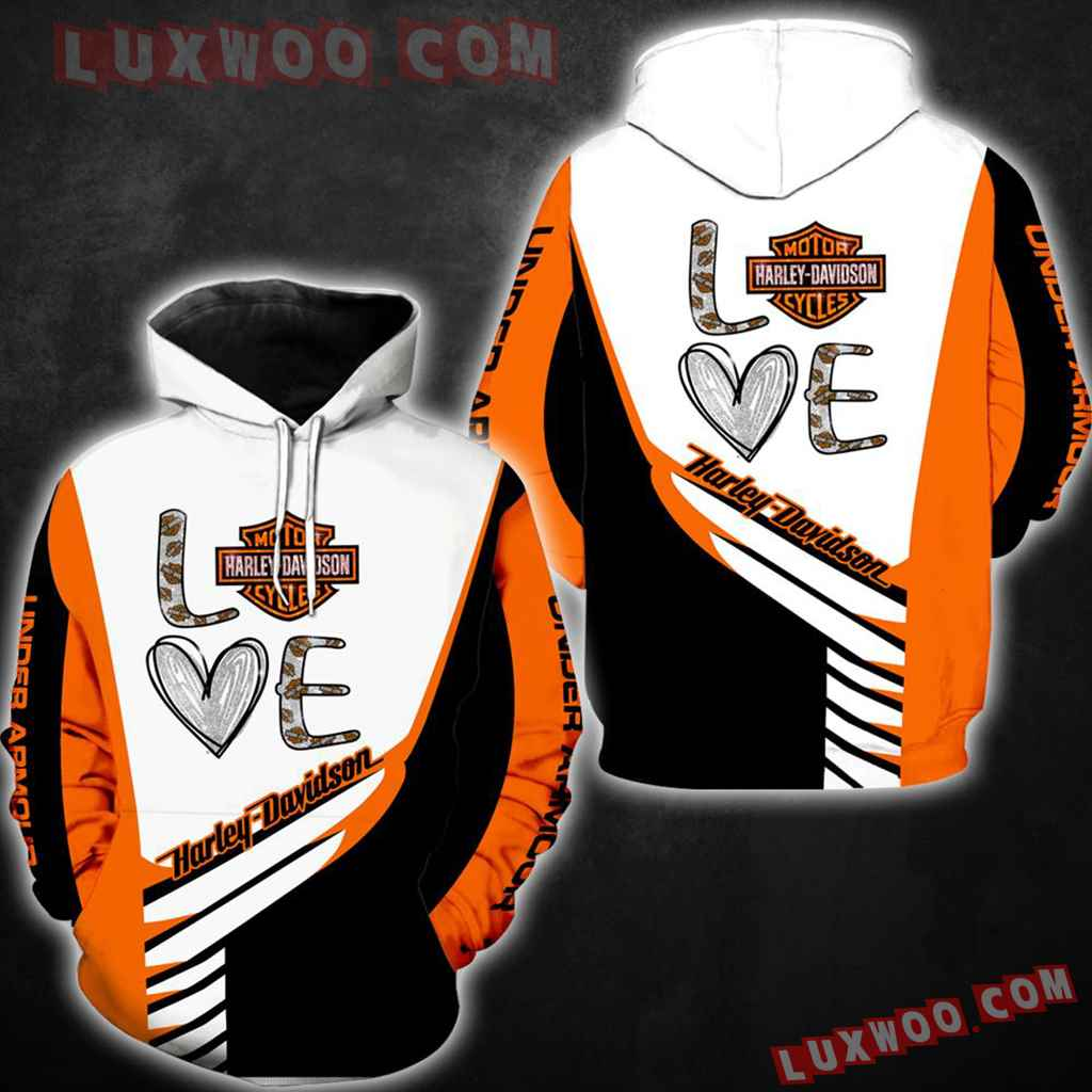 Harley Davidson Motorcycle 3d Hoodies Printed Zip Hoodies V5