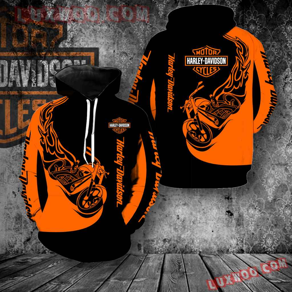 Harley Davidson Motorcycle 3d Hoodies Printed Zip Hoodies V6
