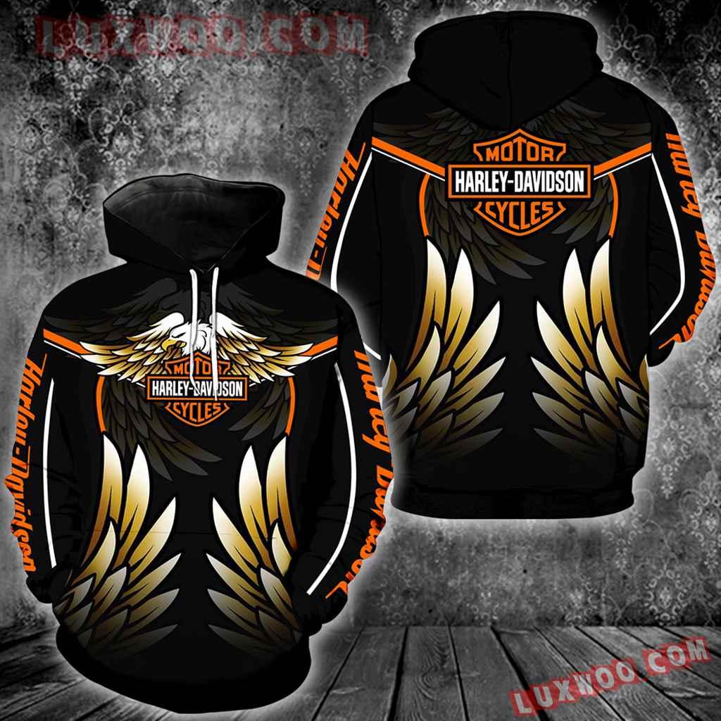 Harley Davidson Motorcycle Skull 3d Hoodies Printed Zip Hoodies V13