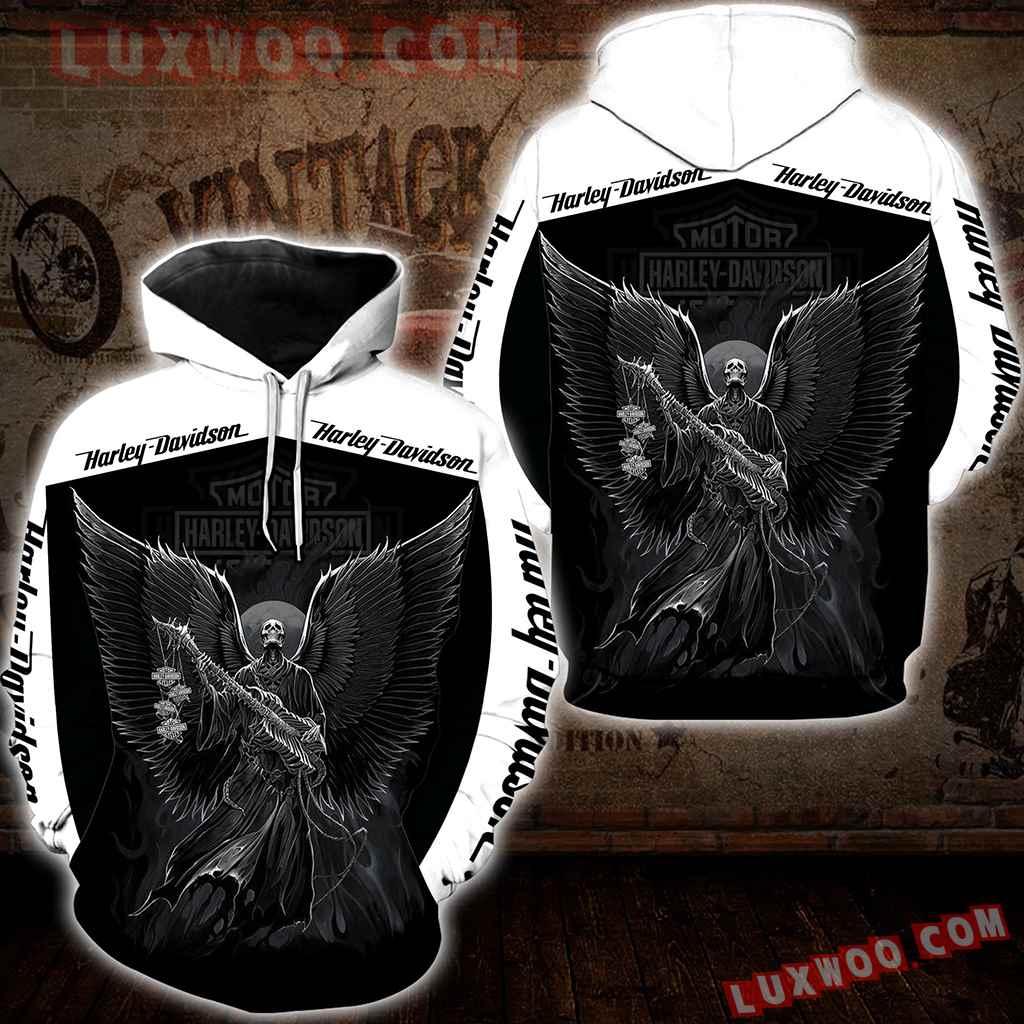 Harley Davidson Motorcycle Skull 3d Hoodies Printed Zip Hoodies V24