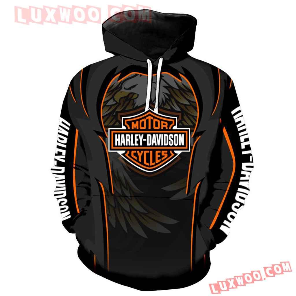 Harley Davidson Motorcycle Skull 3d Hoodies Printed Zip Hoodies V9