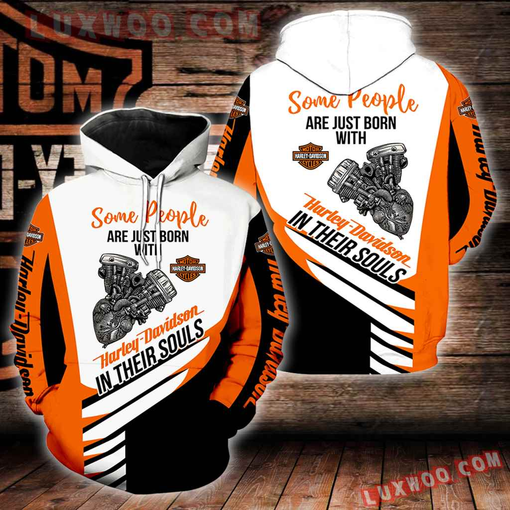 Harley Davidson Some People 3d Hoodies Printed Zip Hoodies