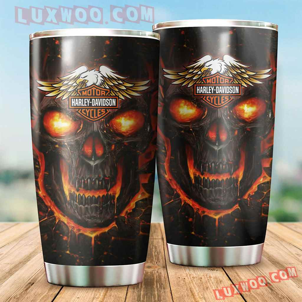 Harley Davidson Travel Tumbler All Over Print V1