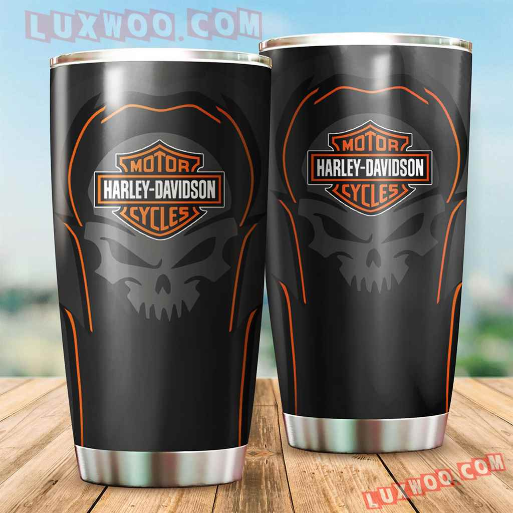 Harley Davidson Travel Tumbler All Over Print V3