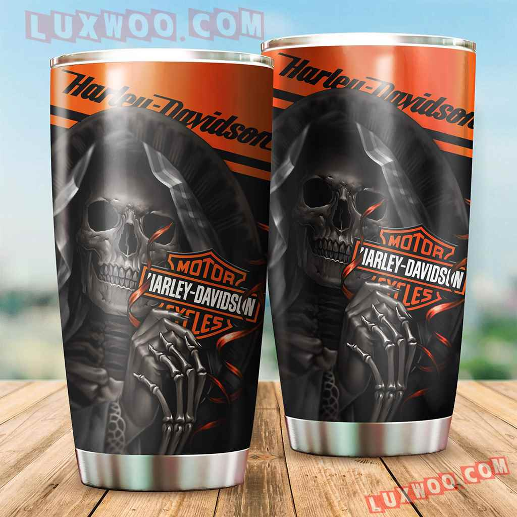 Harley Davidson Travel Tumbler All Over Print V4