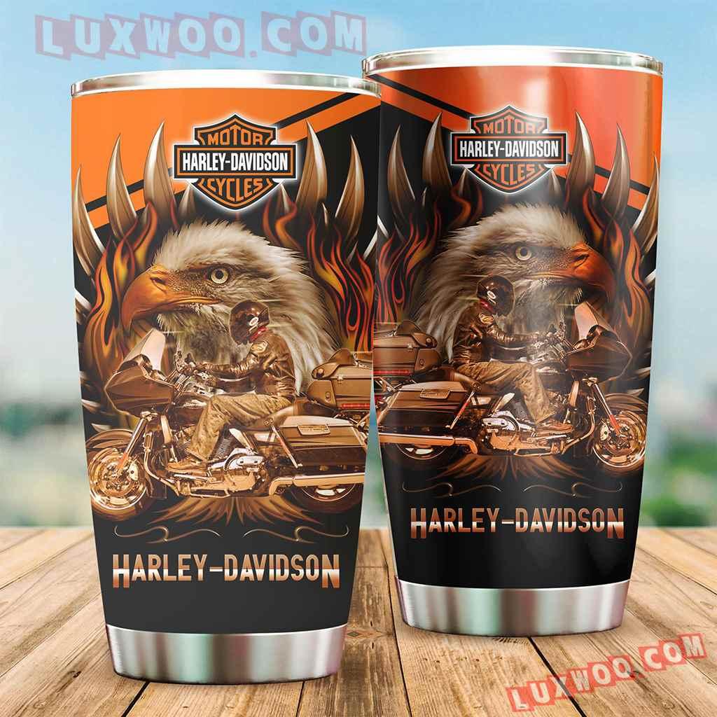 Harley Davidson Travel Tumbler All Over Print V5