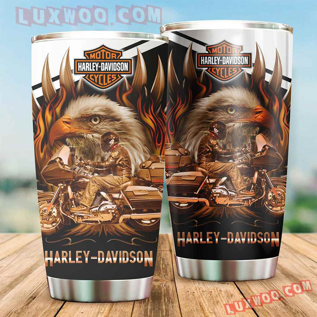 Harley Davidson Travel Tumbler All Over Print V6