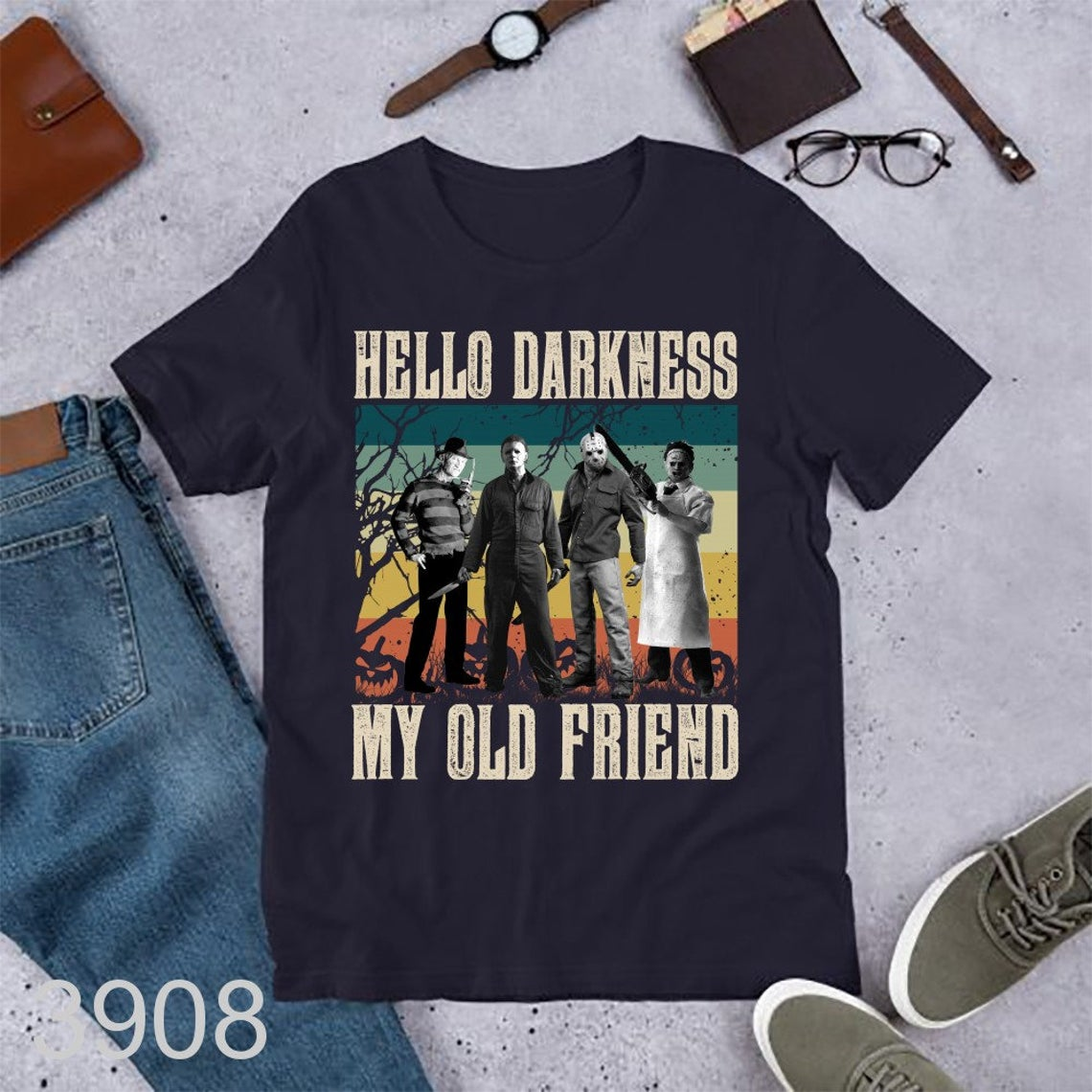 Horror Character Squad Hello Darkness My Old Friend