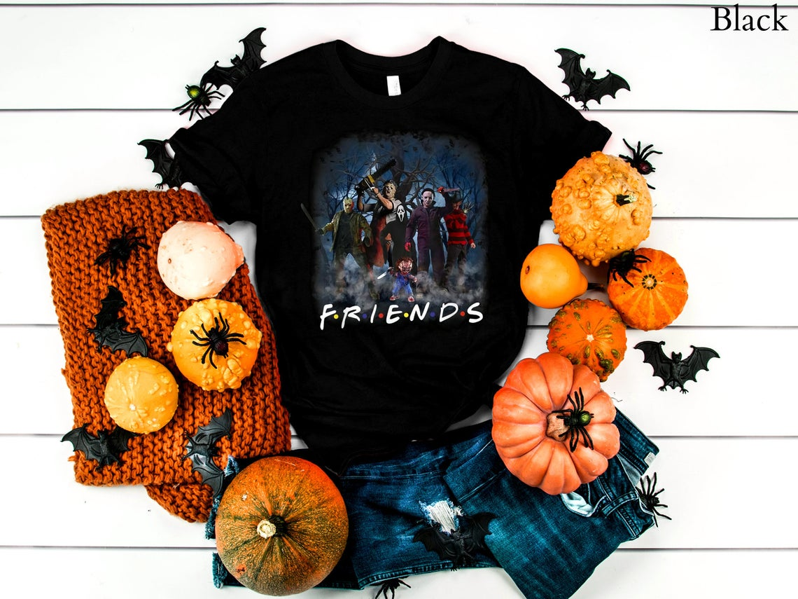Scary Movie Friends Graphic T-shirt