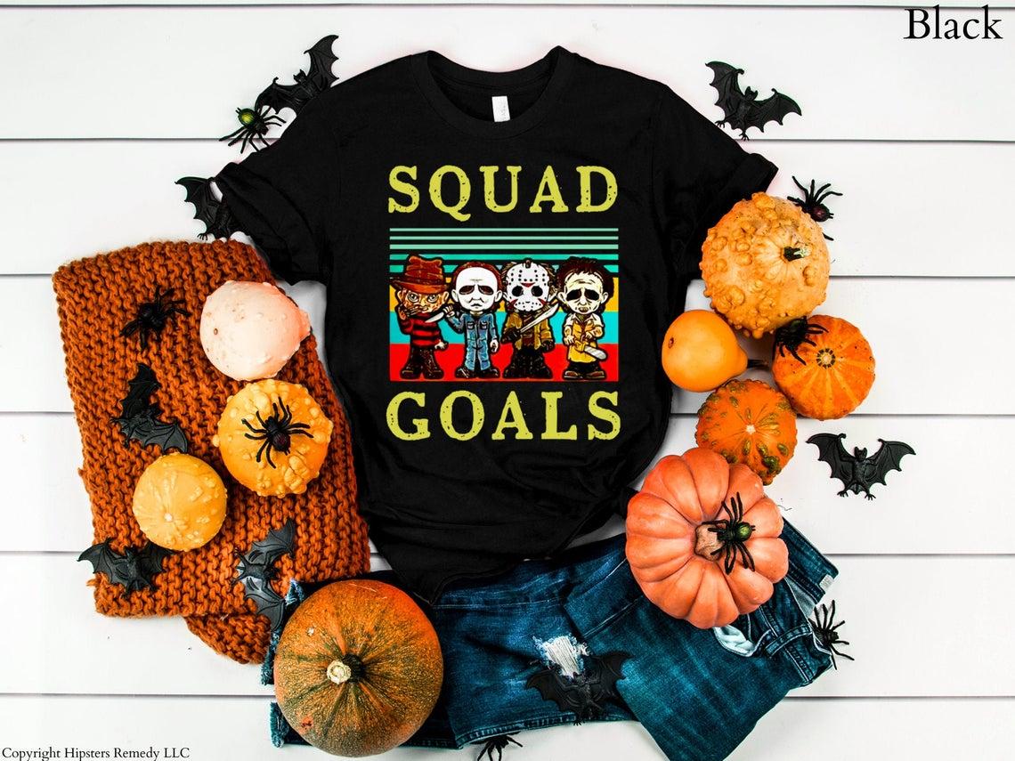 Vintage Squad Goals Horror Movie Villain T-shirt