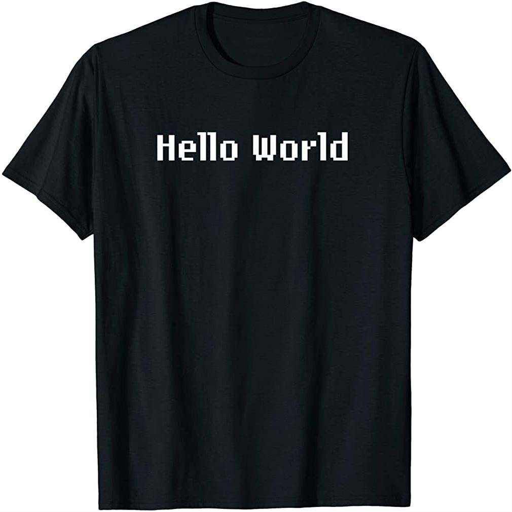Hello World T-shirt Plus Size Up To 5xl